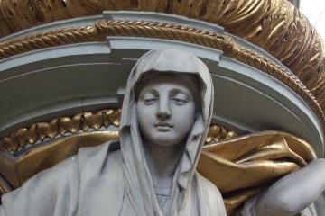 Détail d'un statue dans la Cathédrale d'Amiens.