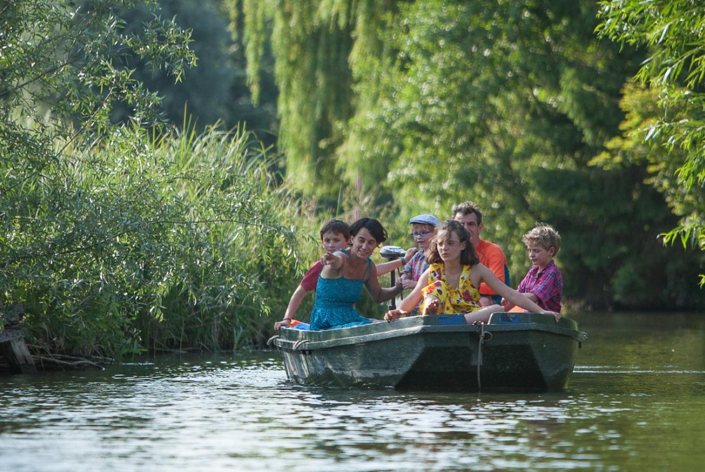 En barque dans le Festival International de Jardins