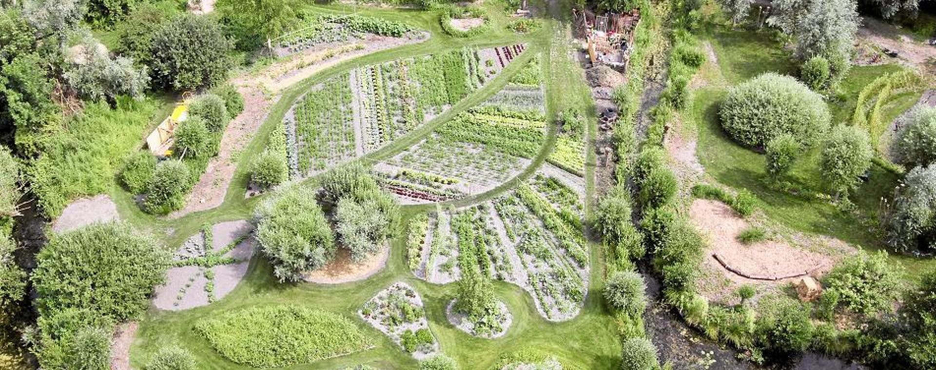 Vue aérienne du jardin des Vertueux