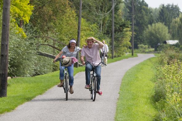 Promenade à vélo sur le chemin de Halage