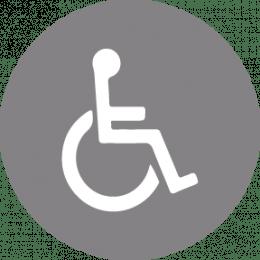 Pictogramme accessible aux personnes souffrant de handicap moteur