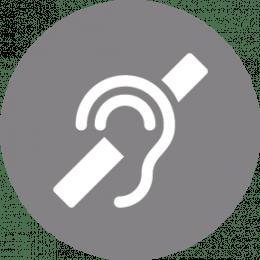 Pictogramme accessible aux personnes souffrant de handicap auditif
