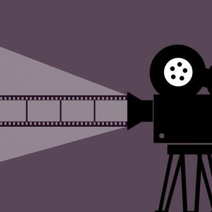 Dessin d'un appareil de projection de film